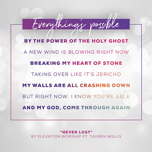Lyrics To "Never Lost" by Elevation Worship Ft. Tauren Wells