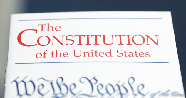 Close up of Pocket Constitution
