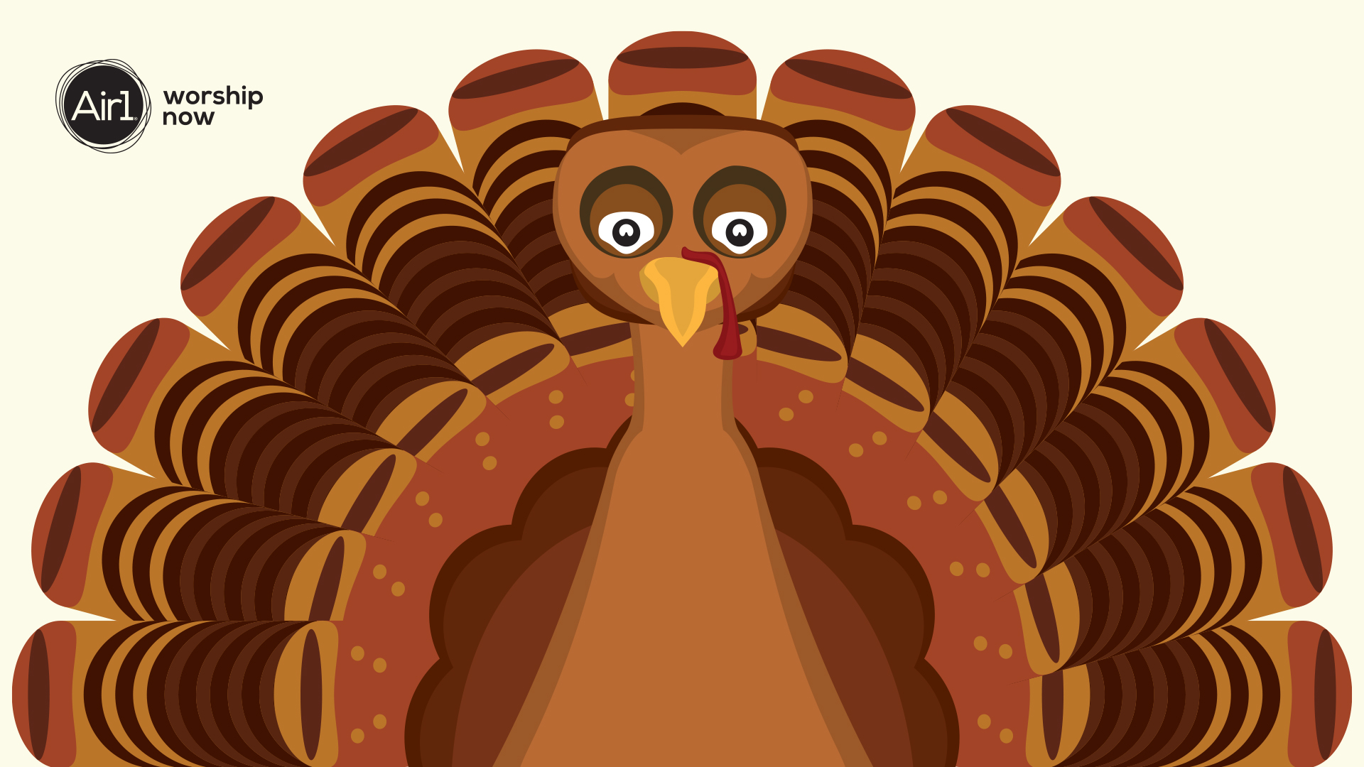 Turkey Cartoon Background For Zoom Call On Thanksgiving