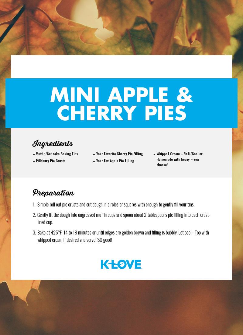 Mini Apple and Cherry Pies