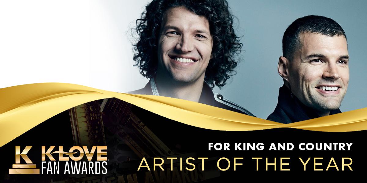 2021 K-LOVE Fan Awards Artist of the Year