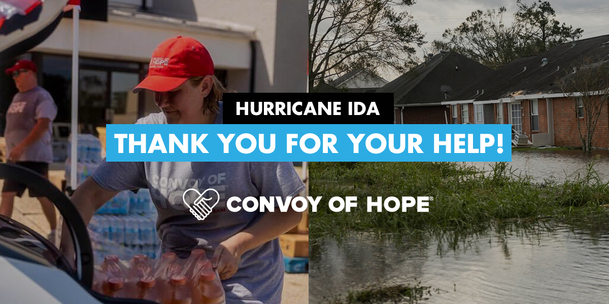 Hurricane Ida Thank you for your Help! Convoy of Hope