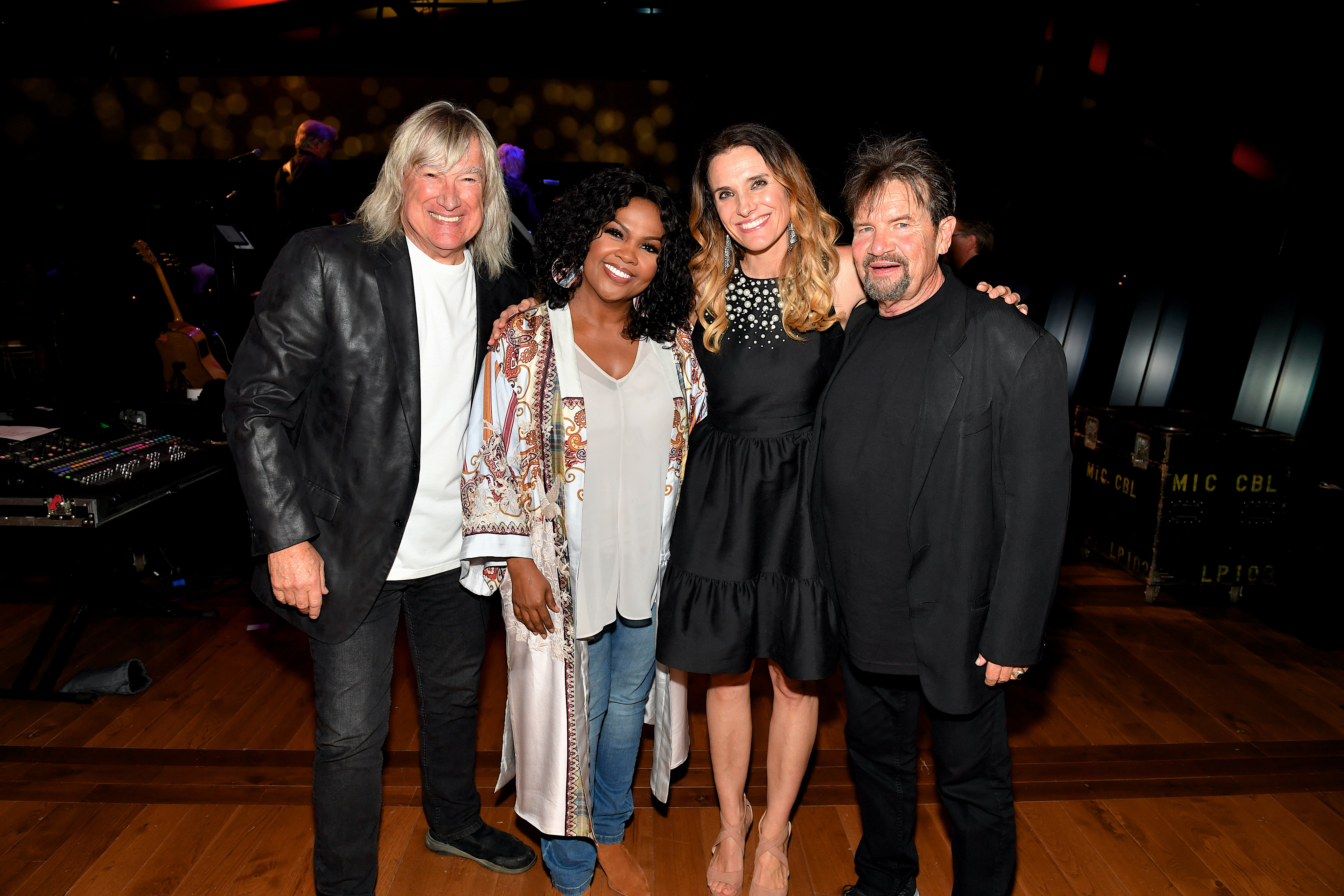 (L-R) John Schlitt, CeCe Winans, Rebecca St. James and Russ Taff arrive at the afterparty for the premiere of Lionsgate