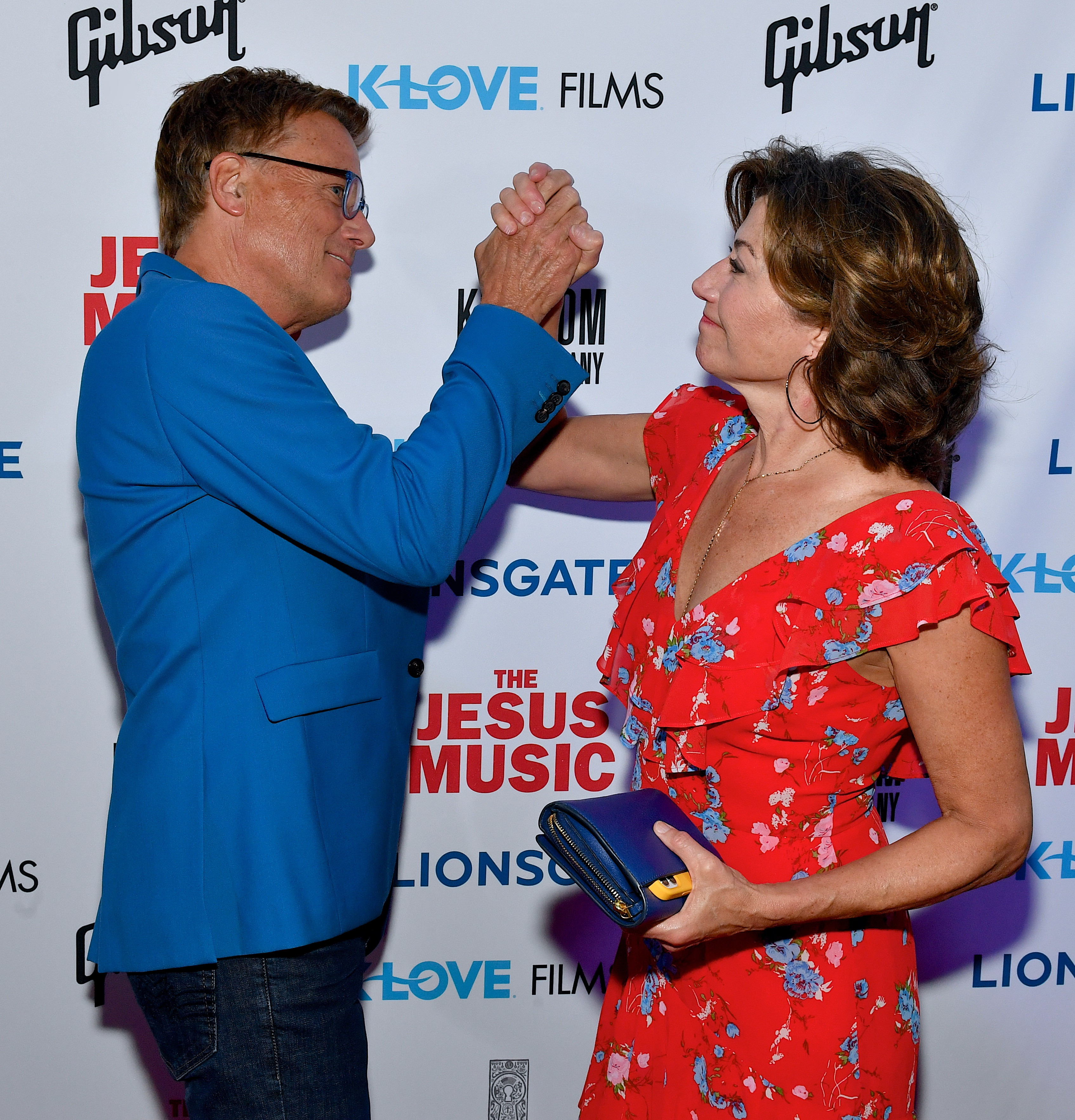 Michael W. Smith and Amy Grant arrive at the premiere of Lionsgate