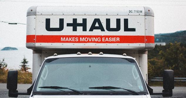 Front of a U-HAUL truck