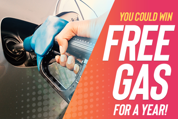You could win free gas for a year