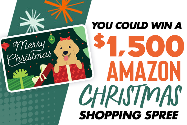 You Could Win a $1,500 Amazon Shopping Spree