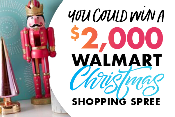 You Could Win a $2,000 Walmart Christmas Shopping Spree