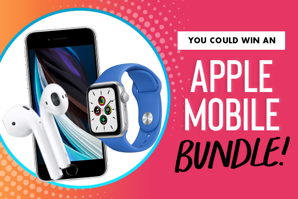 you could win an apple mobile bundle