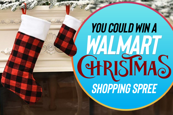 you could win a walmart christmas shopping spree